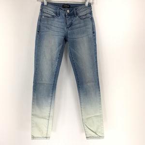 Bebe size 24 Light Wash Ombre Skinny Jeans